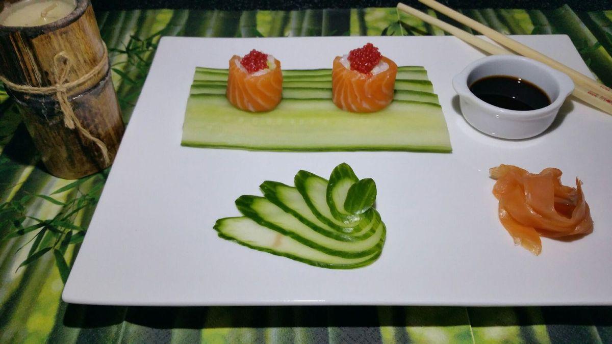 Pour la réalisation des sushis, voir la Vidéo ci-dessous