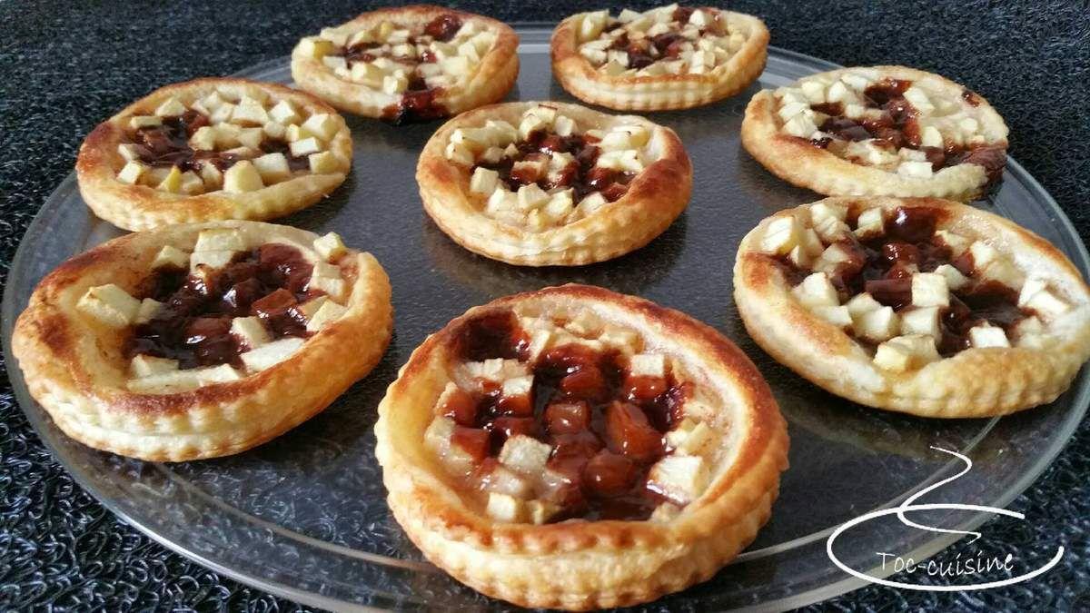tartelettes aux pommes et Carambar