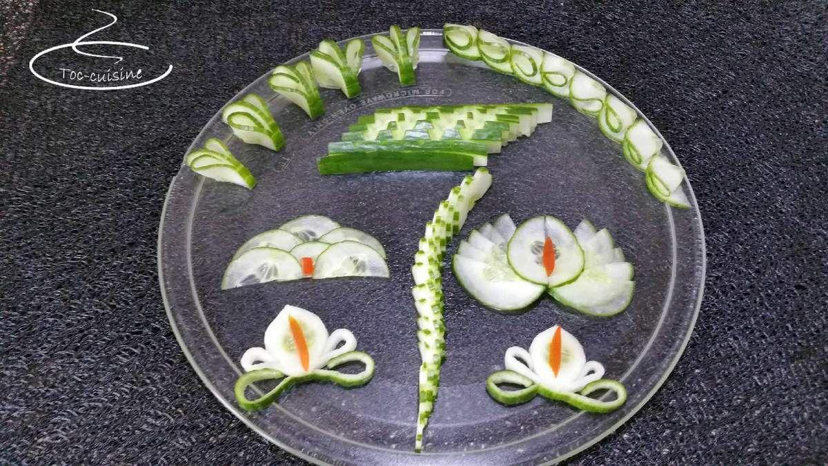 découpes de concombre
