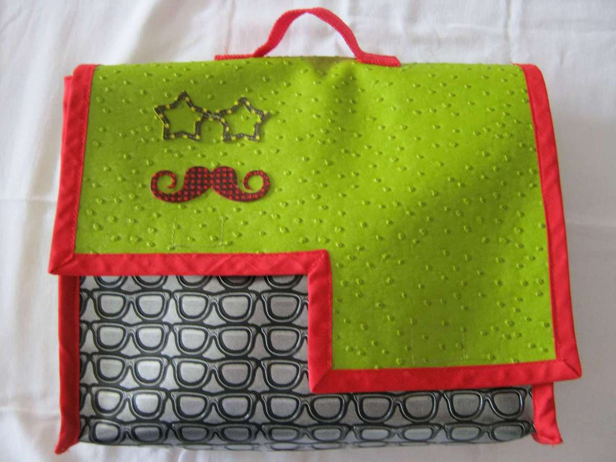 Cartable en simili cuir