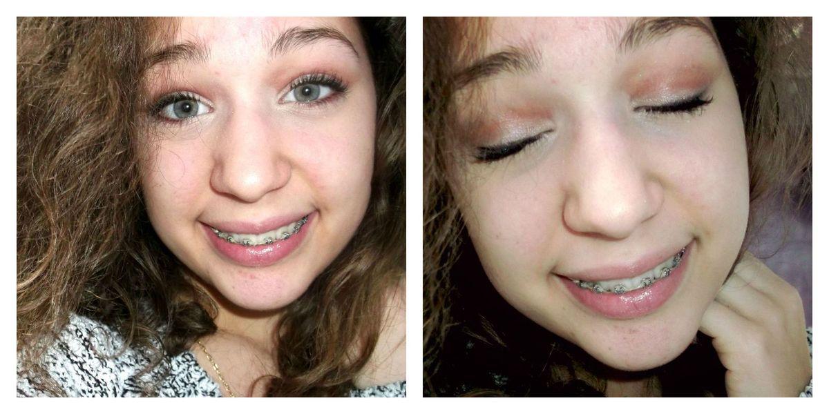 voici une petite idée maquillage (si vous voulez un tuto n'hésitez pas à me le dire &#x3B;) )