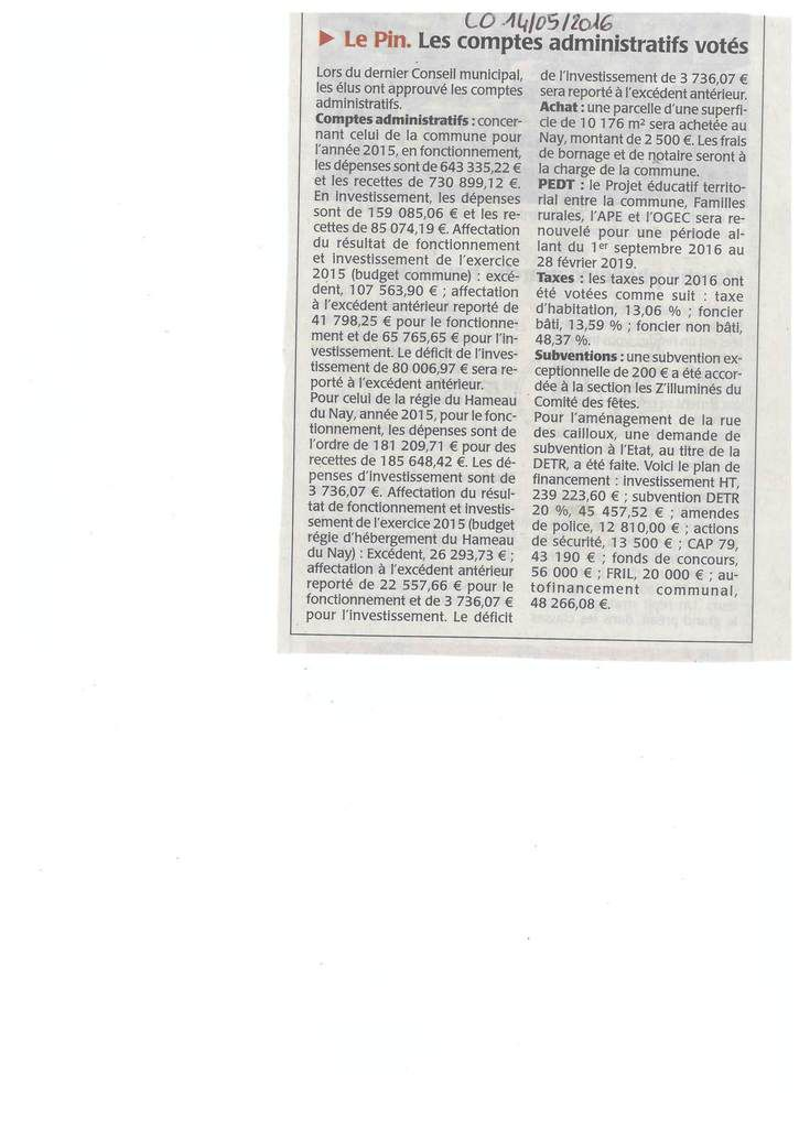 c) REVUE DE PRESSE