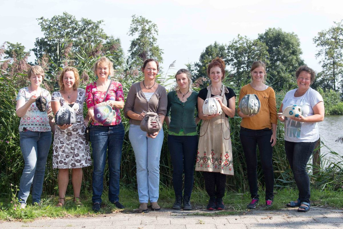 Vessel workshop at Atelier Fiberfusing in the Netherlands 28 - 30/8/2015