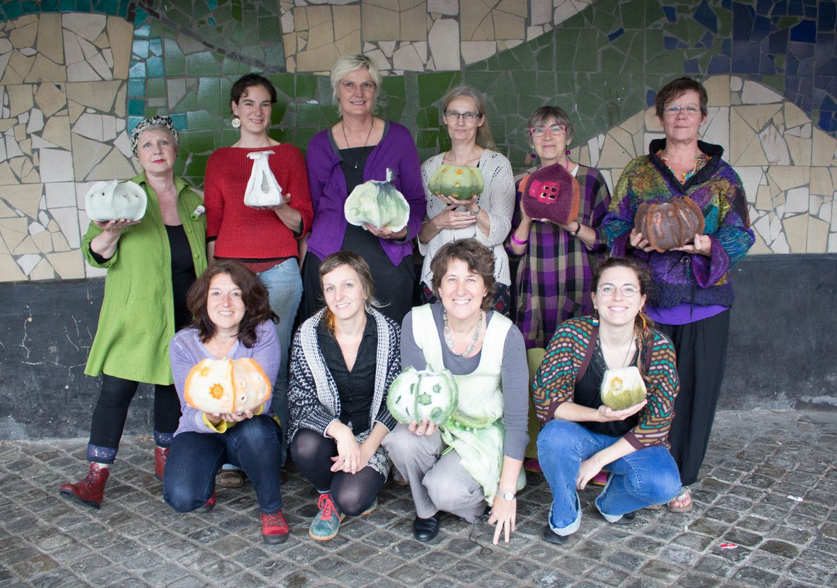 works from workshop participants in Belgium Mai 2016