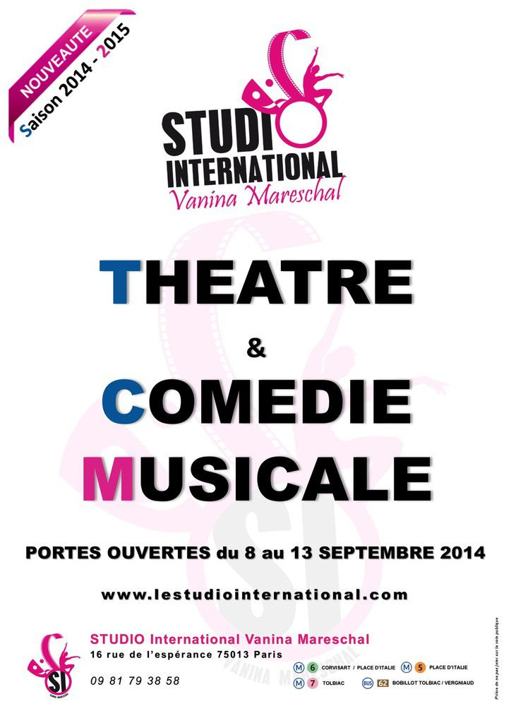 STUDIO International rentrée 2014 - 2015