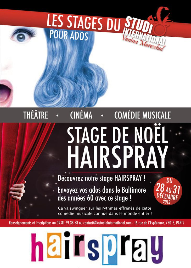 Stage HAIRSPRAY pour Noël