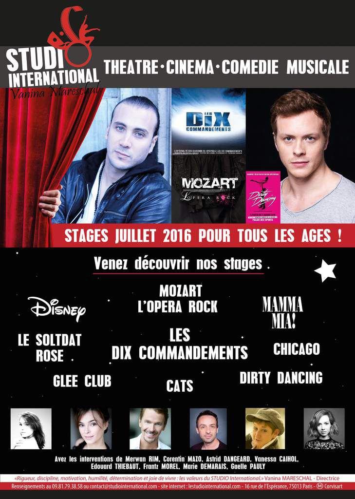 Stages Comédie Musicale ETE