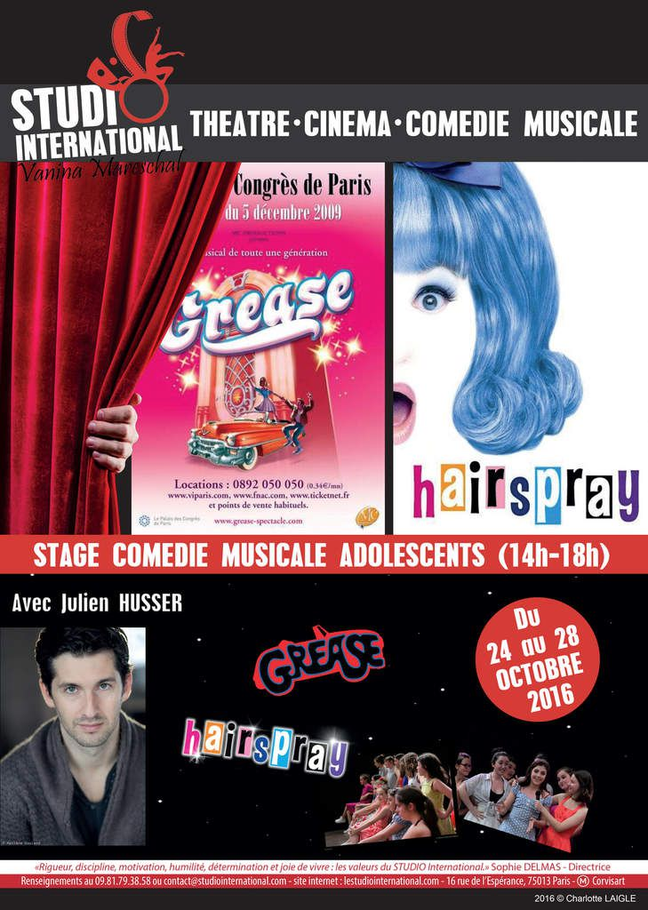 Stages Comédie Musicale Adolescents
