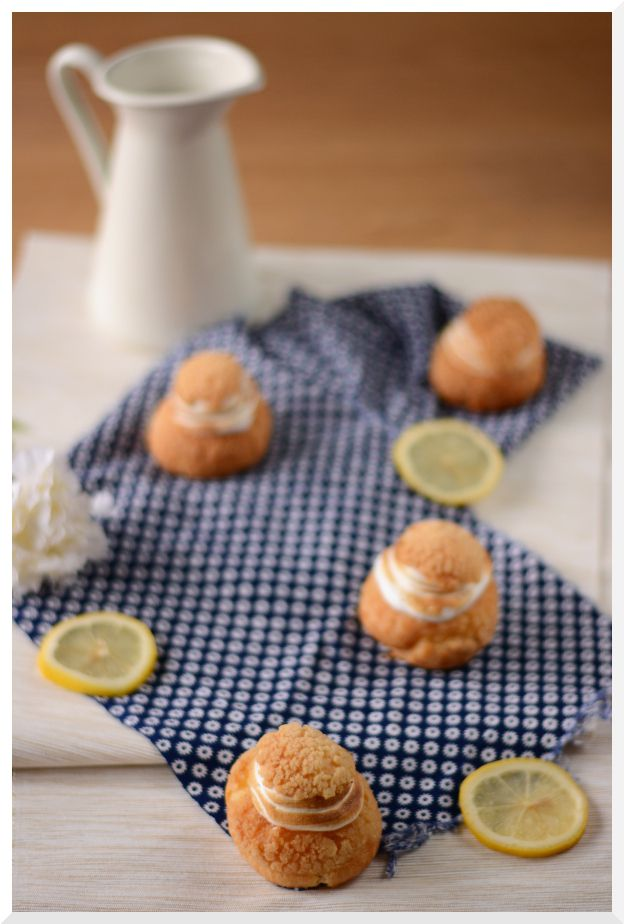 Choux  façon tarte aux citrons meringuée