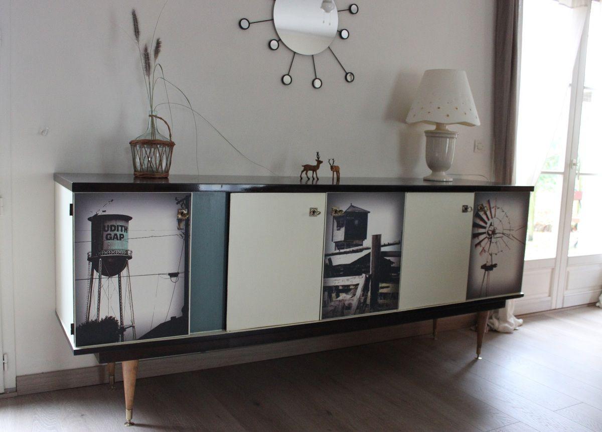 Buffet bas enfilade style vintage loft envie vintage meubles - Bon coin 87 meubles ...