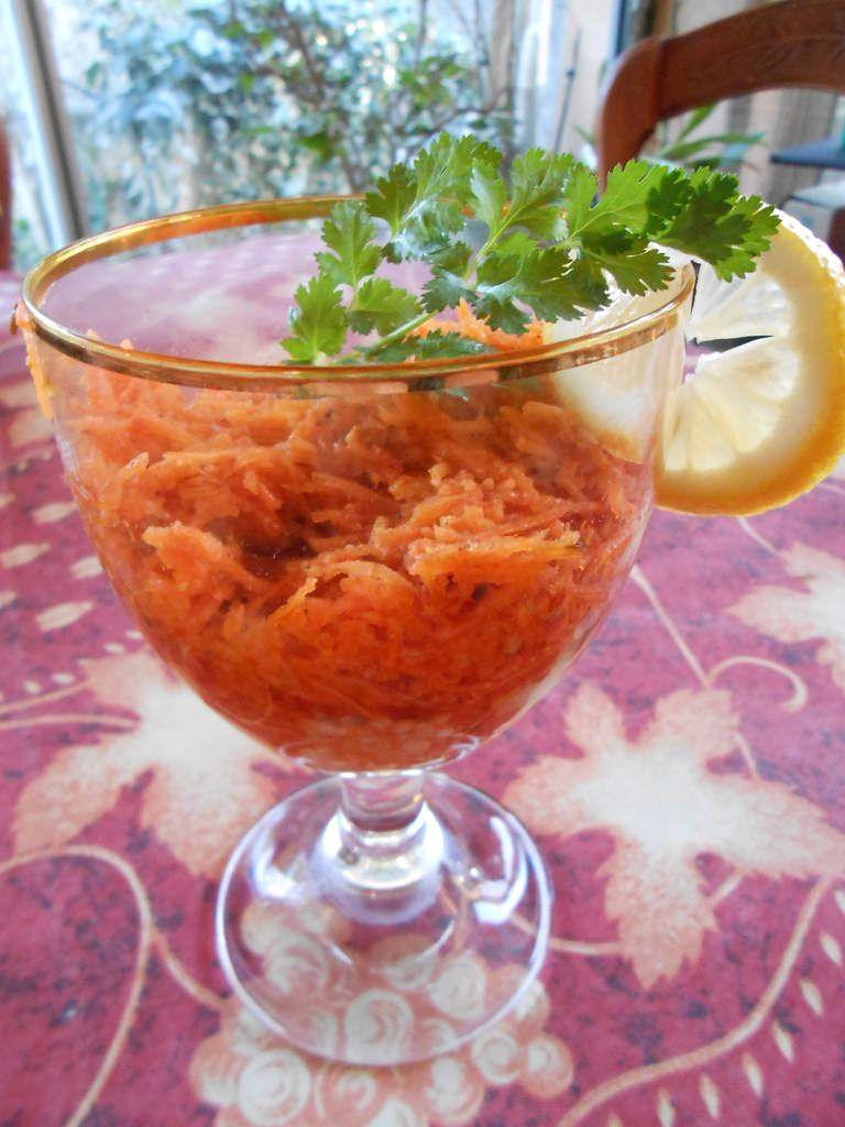 Salade de carottes rapées épicées