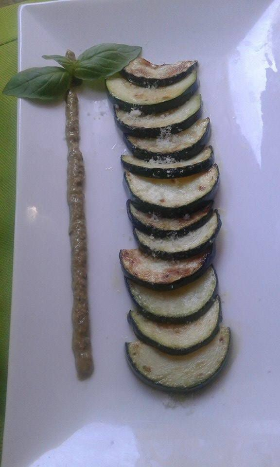Courgettes au pesto