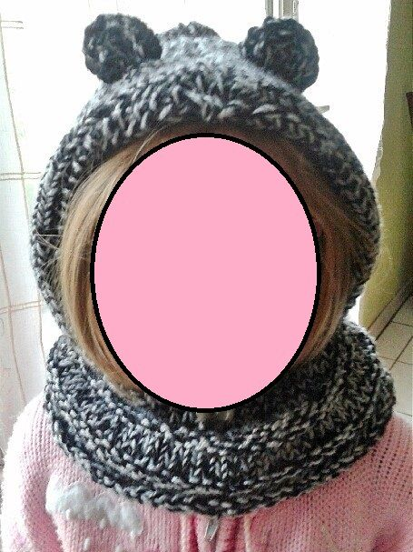 bonnet snood à oreilles