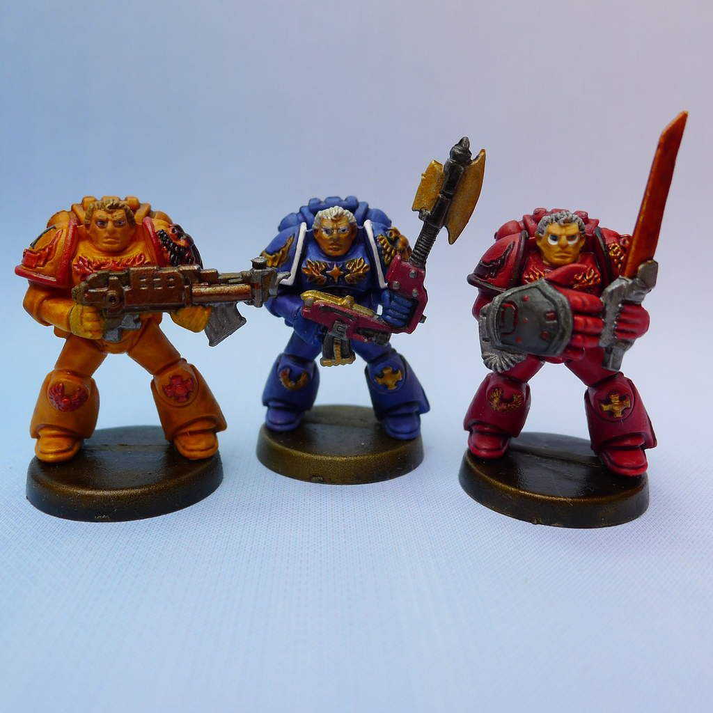 Space Crusade : Peindre les sergents des Space Marines