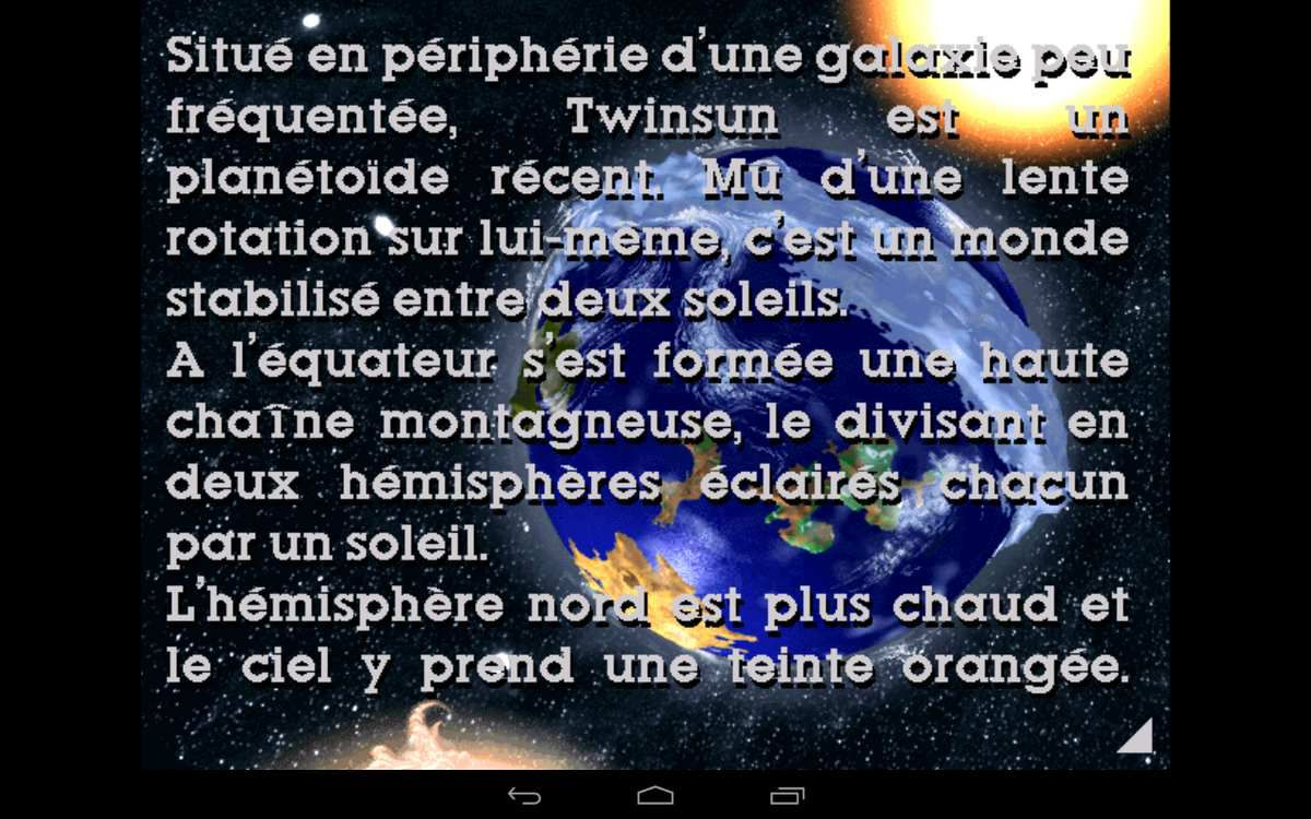 Twinsun en fond, issu de Little Big Adventure sur Android.