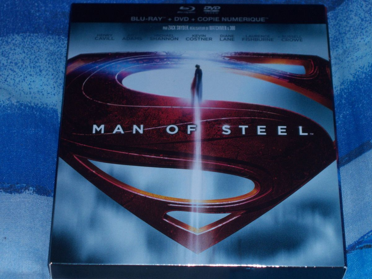 Man of steel en BluRay.