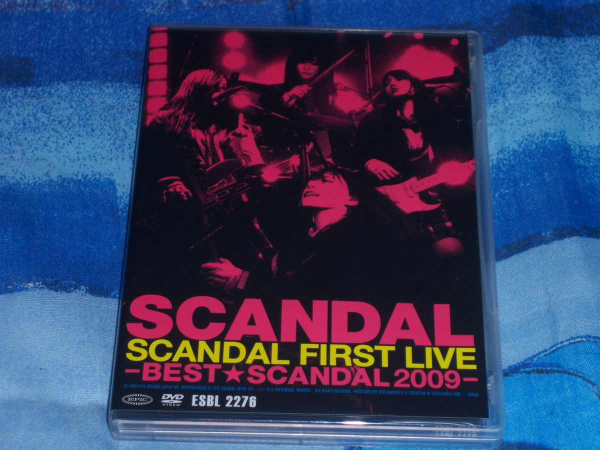 Best SCANDAL 2009, SCANDAL first live, DVD.