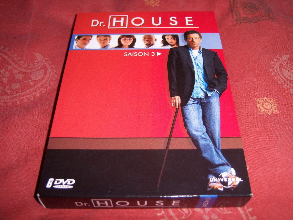 Dr House saison 3 en DVD.