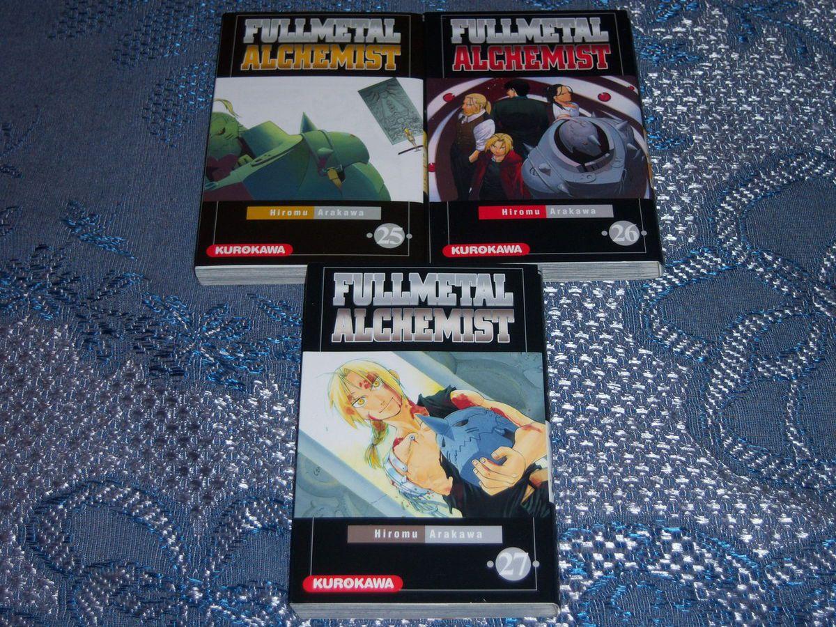 FullMetal Alchemist tomes 25 à 27.