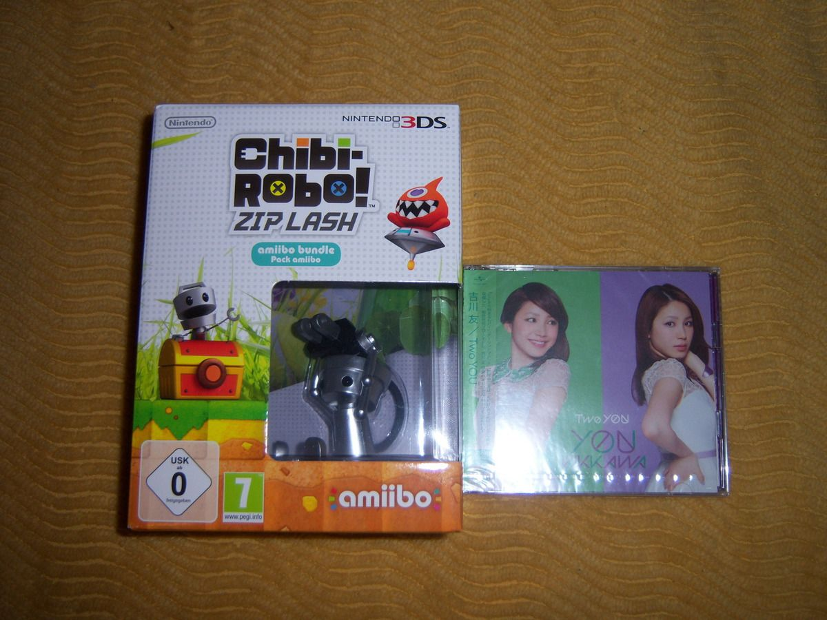 Chibi Robo! Zip Lash avec Amiibo sur 3DS, Two You de KIKKAWA You en CD+DVD.