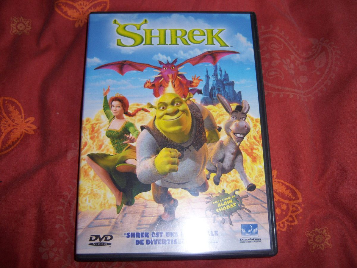 Shrek en DVD.