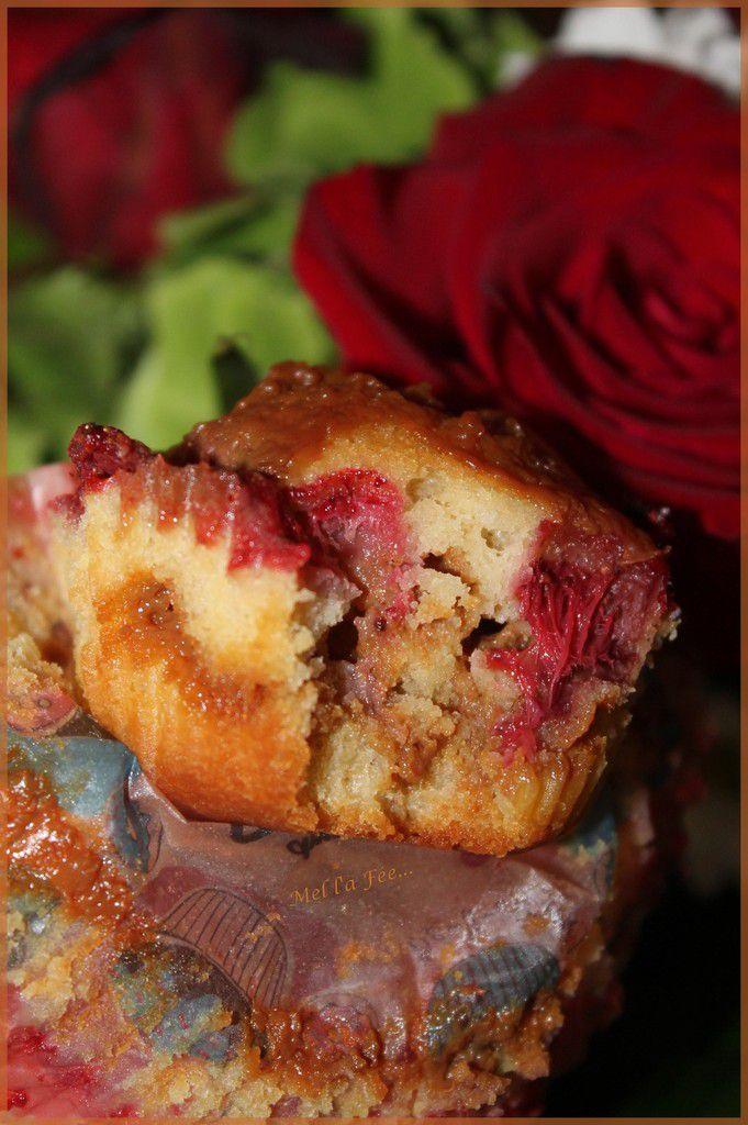 Layer muffin fraise,rhubarbe, confiture de lait
