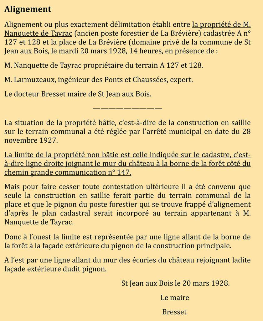 Empiétement sur la place de la Brévière (4)
