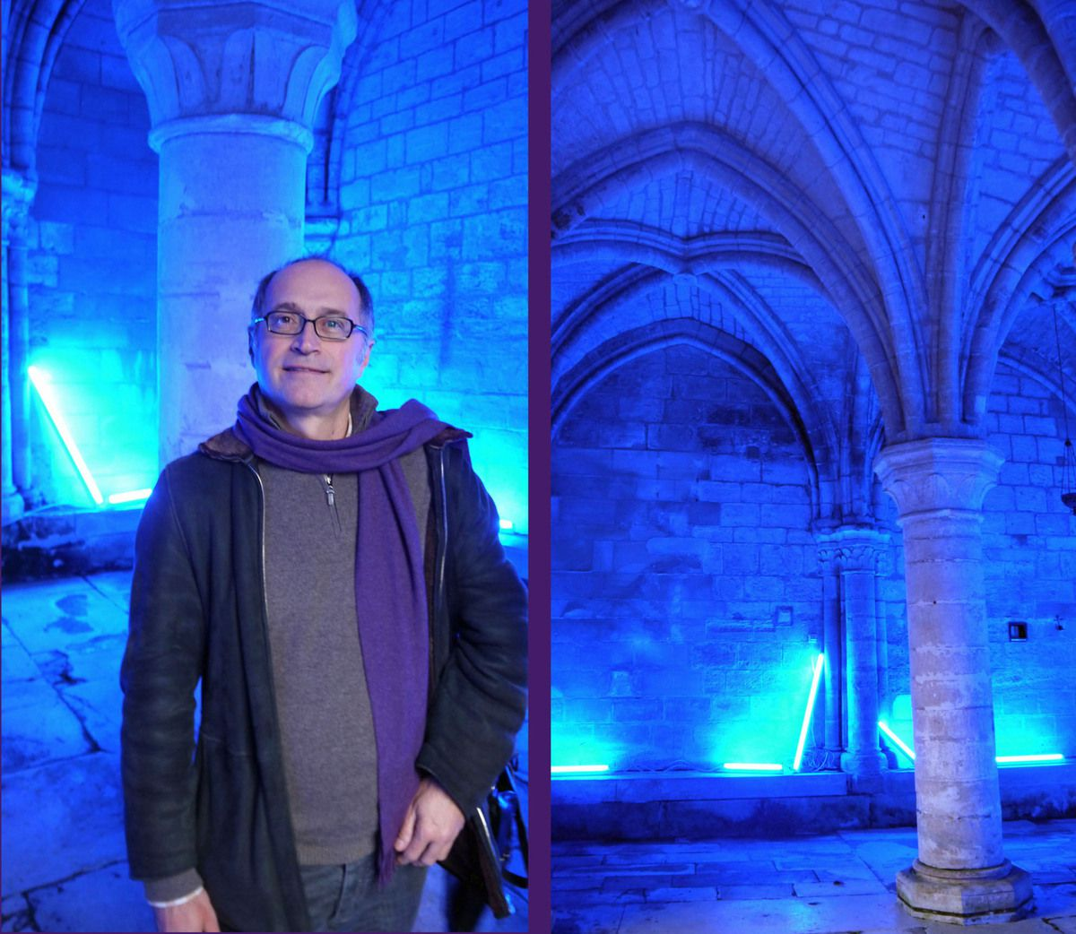Eric Michel dans la salle capitulaire