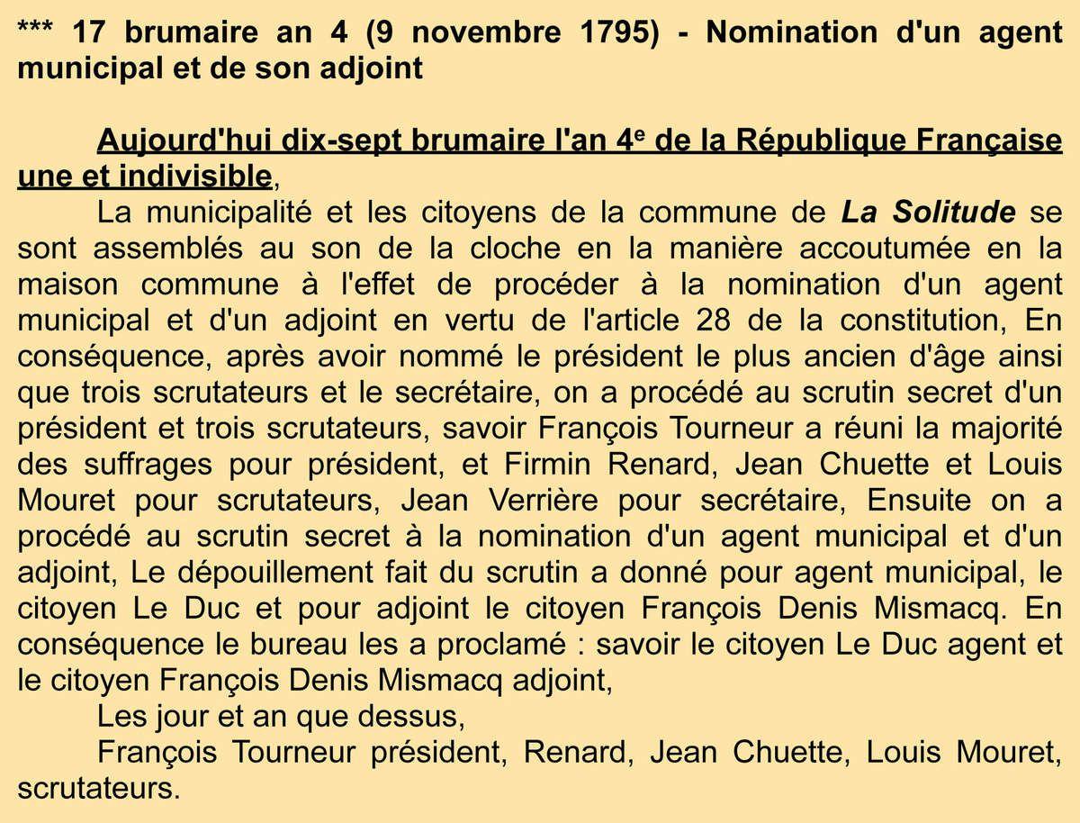 Nomination d'un agent municipal Archives communales - Registre de délibérations 1 D 3