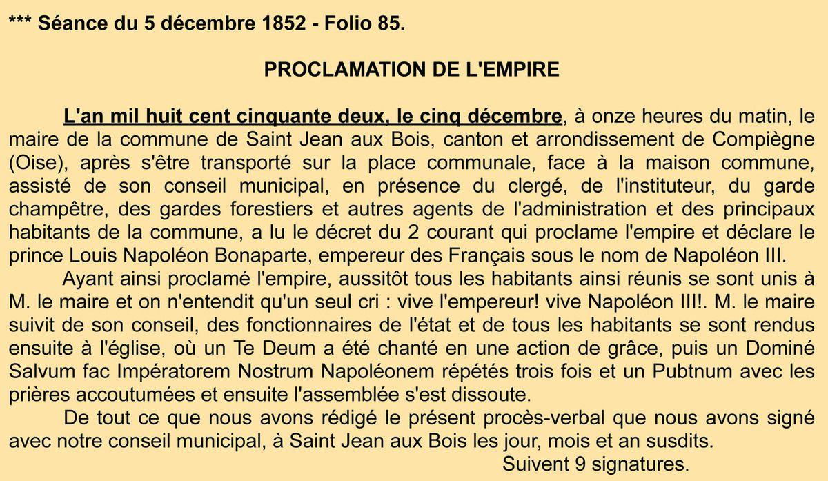 Procès-verbal Napoléon. Registre des délibérations 1D5.
