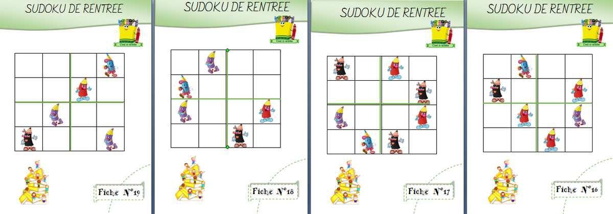 Sudoku rentrée des classes