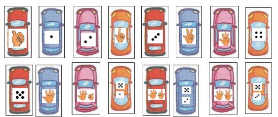 Jeu du parking les petites voitures