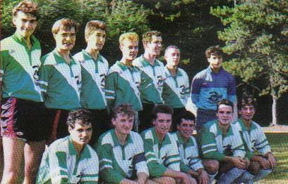L'équipe seniors de la saison 1989-1990