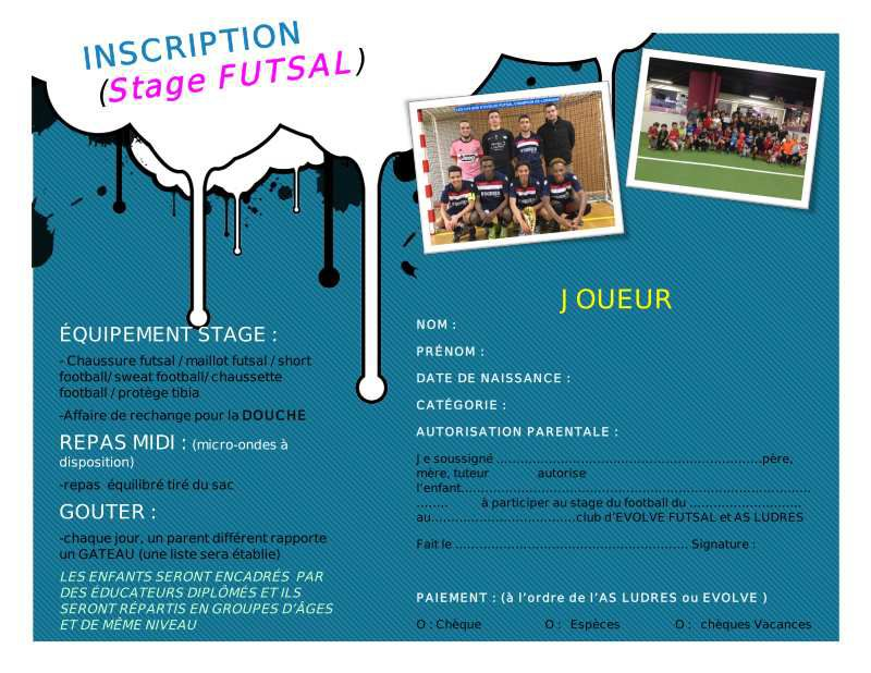 Stage Hiver Evolve Futsal / AS Ludres