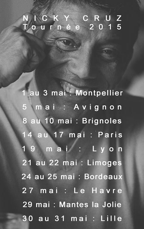 Tournée de Nicky Cruz en France  !