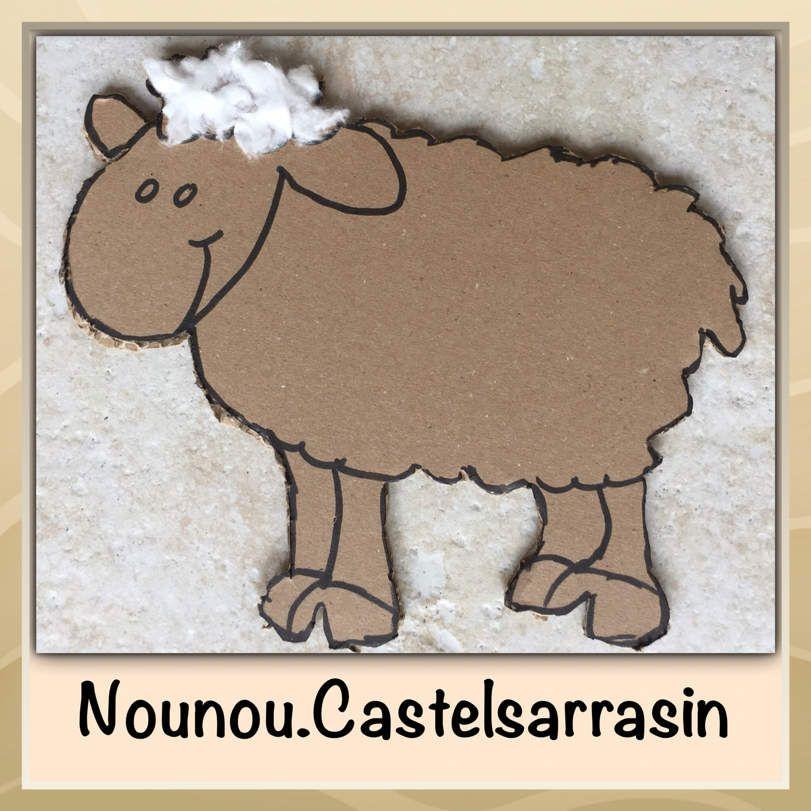 Mouton en carton et coton