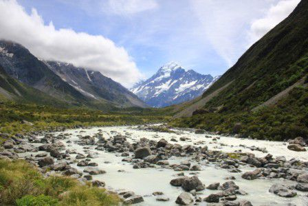 14.01.2015 - Welcher Berg ist da jetzt der Mt. Cook? Keine Ahnung!