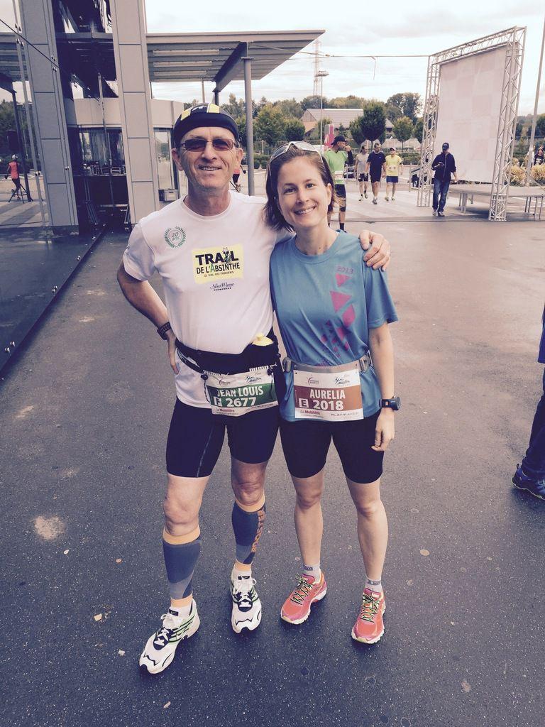 Première participation au semi-marathon de la Côte, avec Aurélia