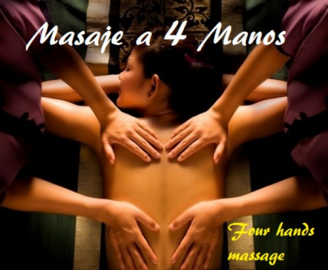 four hand massage in Madrid