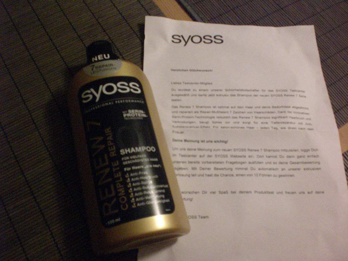 Shampoo SYOSS Renew 7 Serie im Test