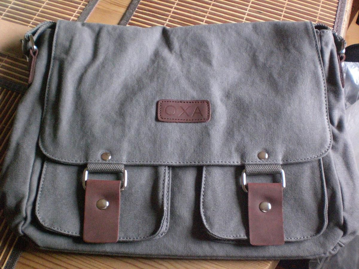 OXA Vintage Canvas Messenger Bag Umhängetasche im Test...
