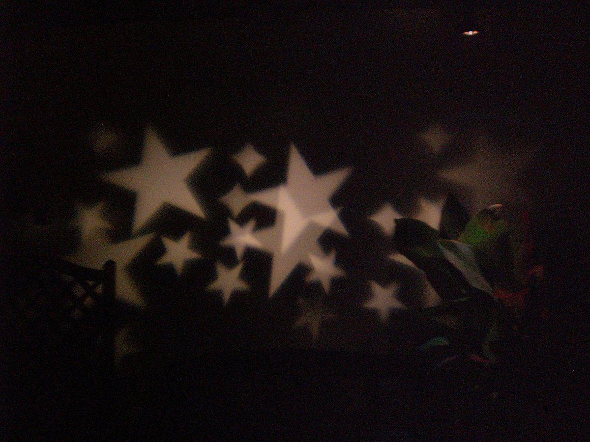 Oh wie schön...Salcar LED Effektlicht mit warmweißen Sternen im Test...