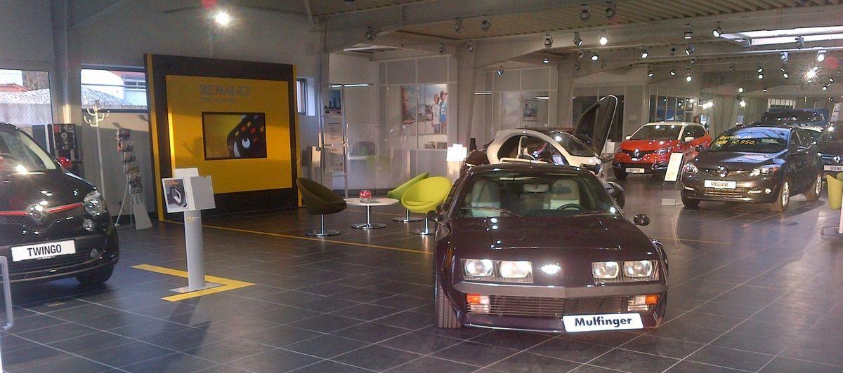 Alpine für die Automeile in schwäbisch Gmünd am 07+08.03.2015 ausgestellt bzw. zur Verfügung gestellt