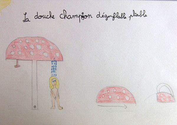 Double champignon dégonflable pliable