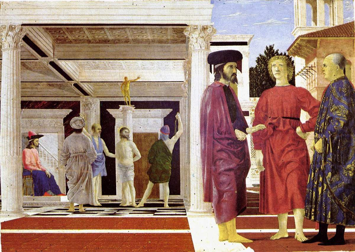 Piero della Francesca, La flagellation du Christ.