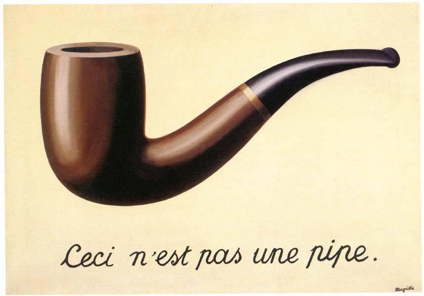 Magritte, La trahison des images, 1929, huile sur toile, 59 x 65 cm, Musée d'art du comté de Los Angeles