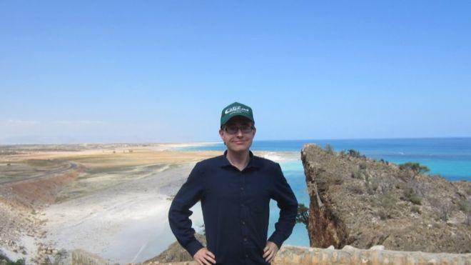 """""""Yo en la isla de Socotra (Yemen). Uno de mis lugares favoritos en el mundo""""."""