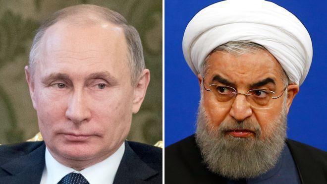 Los presidentes Vladimir Putin y Hassan Rouhani sostuvieron una conversación telefónica el domingo sobre los ataques de EE.UU. contra Siria.
