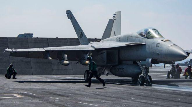 Un avión caza F/A-18 Super Hornet (similar al de la fotografía) derribó un avión del Ejército sirio/ Getty Images