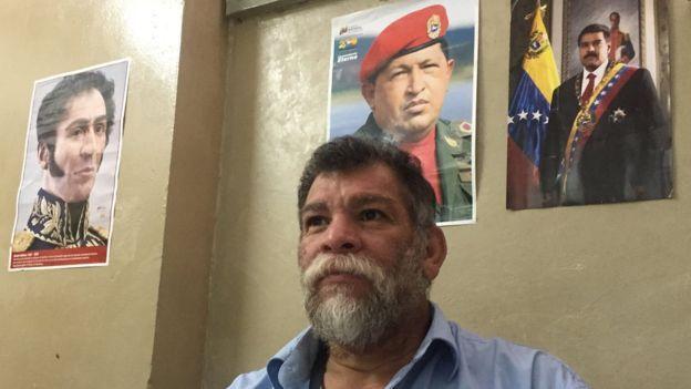 Mao es un líder histórico de la izquierda y de la lucha armada en Venezuela. Ahora dirige una escuela pública.